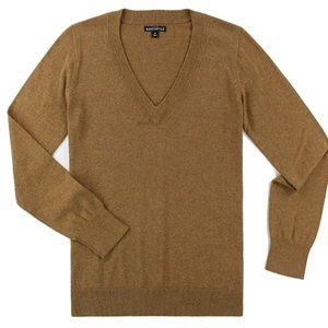 J CREW tan camel cotton sweater